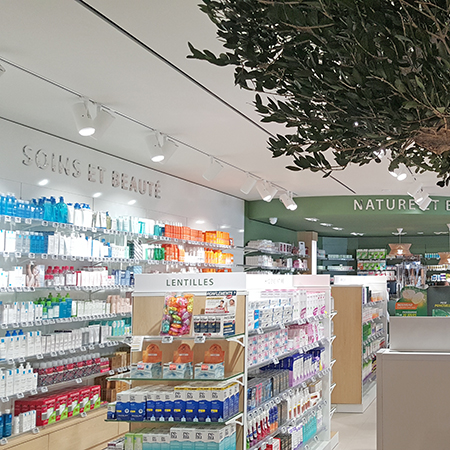 AGENCEMENT PHARMACIE GRAND CASE LINEAIRES