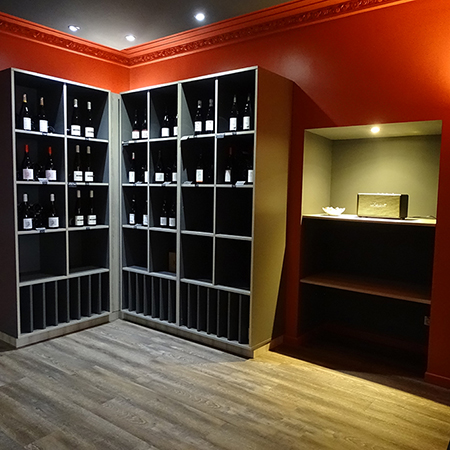 agencement de cave vin mobilier et am nagement de cave vin boursin agencement. Black Bedroom Furniture Sets. Home Design Ideas