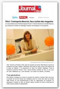 Journal de Vitré Article de presse Boursin création et réalisation d'agencement de magasin