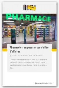 Consomag Article de presse BOURSIN Création et réalisation d'agencement Pharmacie