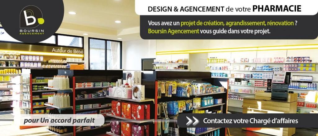 Projet création agrandissement rénovation pharmacie Boursin Agencement