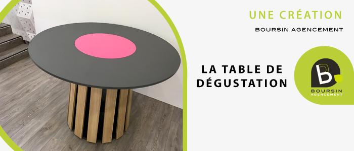 AGENCEMENT CAVE A VIN TABLE DE DEGUSTATION