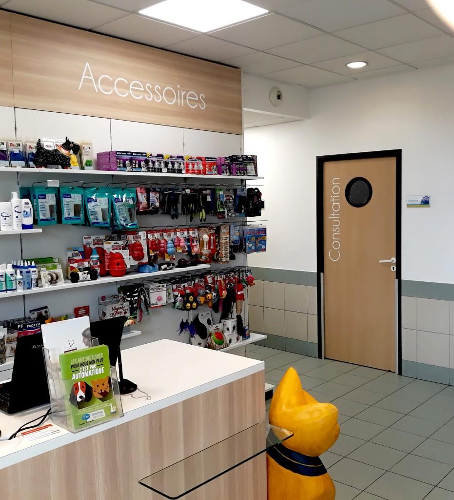 Boursin agencement clinique veterinaire vaudois comptoir cote espace confidentiel