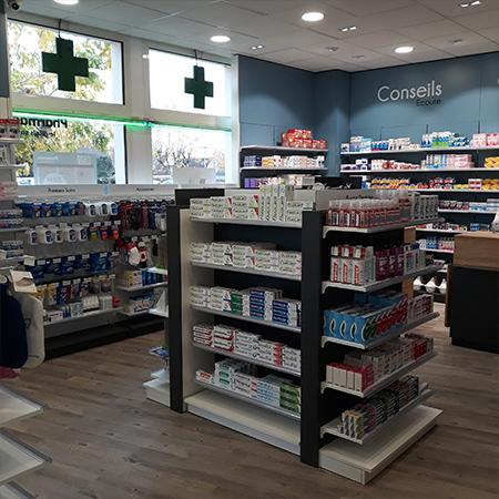 agencement pharmacie du bouquet Pontault-Combault