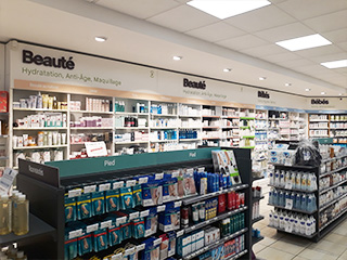 gondoles et lineaires relooking pharmacie