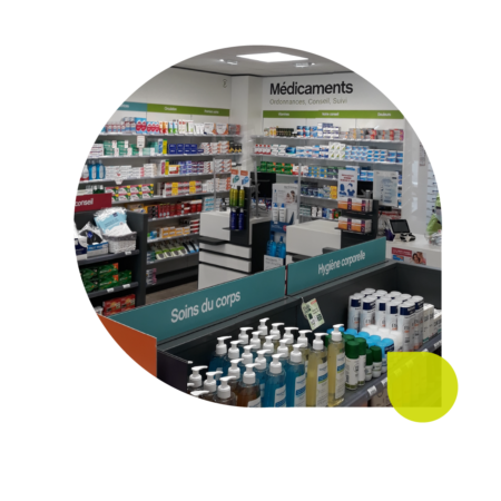 agencement pharmacie comptoirs