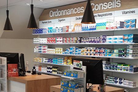 agencement espace vente pharmacie accueil