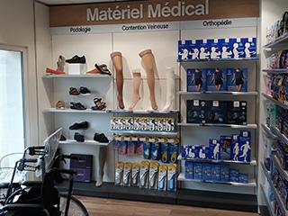 materiel medical agencement espace vente