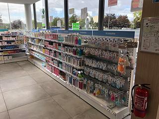 nouvelles gondoles pharmacie