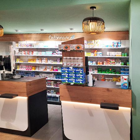 agrandissement pharmacie comptoirs