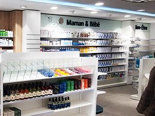agencement pharmacie maternite