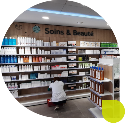agencement despace pharmacie soin beaute